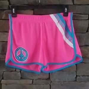 Justice Pink Track Shorts